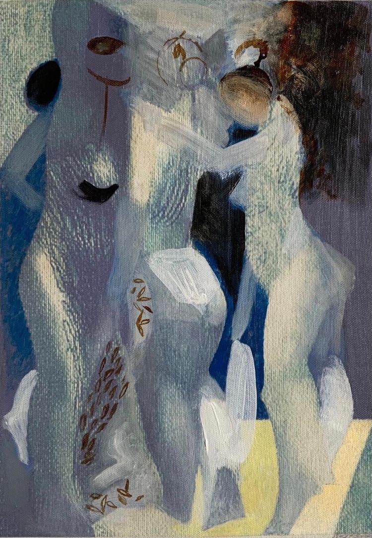 Graces. Painting. Art studio Se - sergeykonstantinov | ello