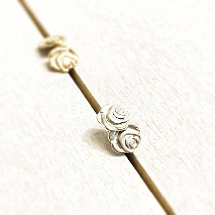 Rose Stud Earrings Gold Filled  - raksen | ello