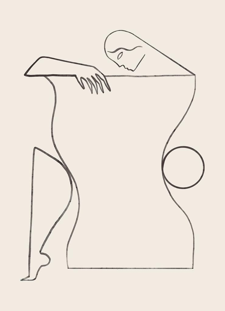 Julio - abstract, illustraion, lineart - kitagar | ello