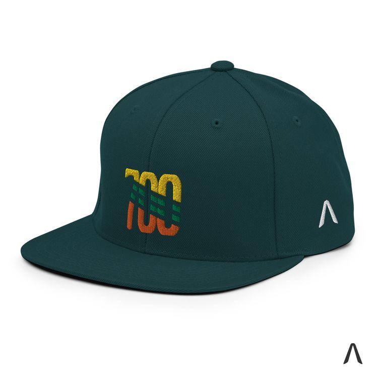 Green Spruce Snapback Cap Match - kaatx   ello