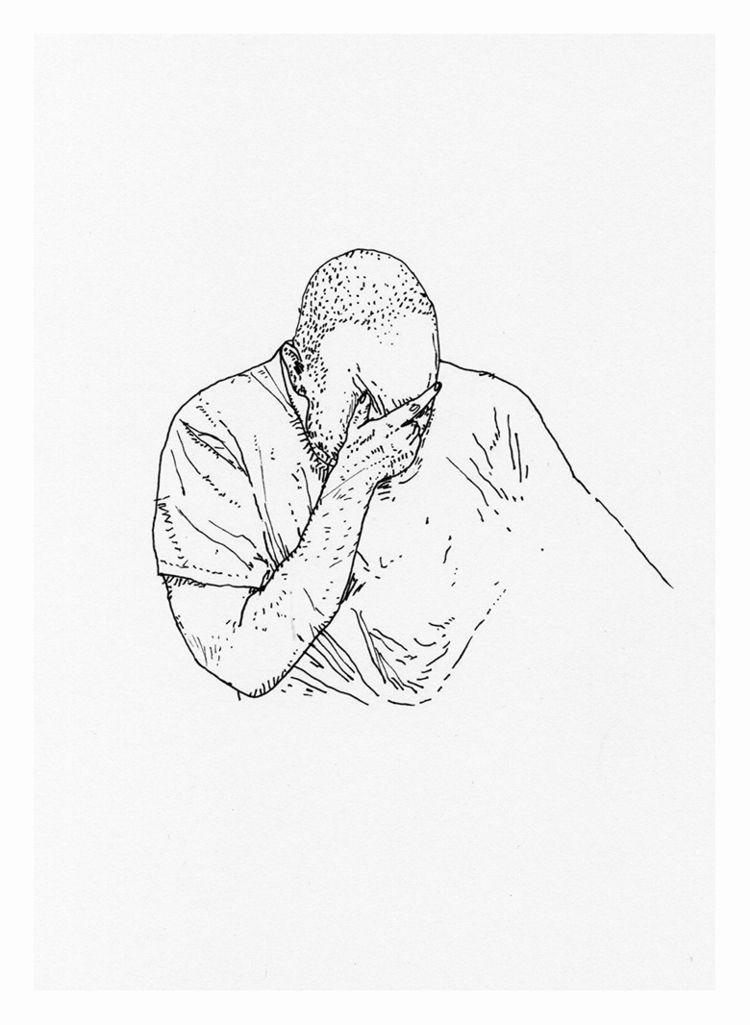 Sad man. Ink card, 148x105mm, 2 - carpmatthew | ello