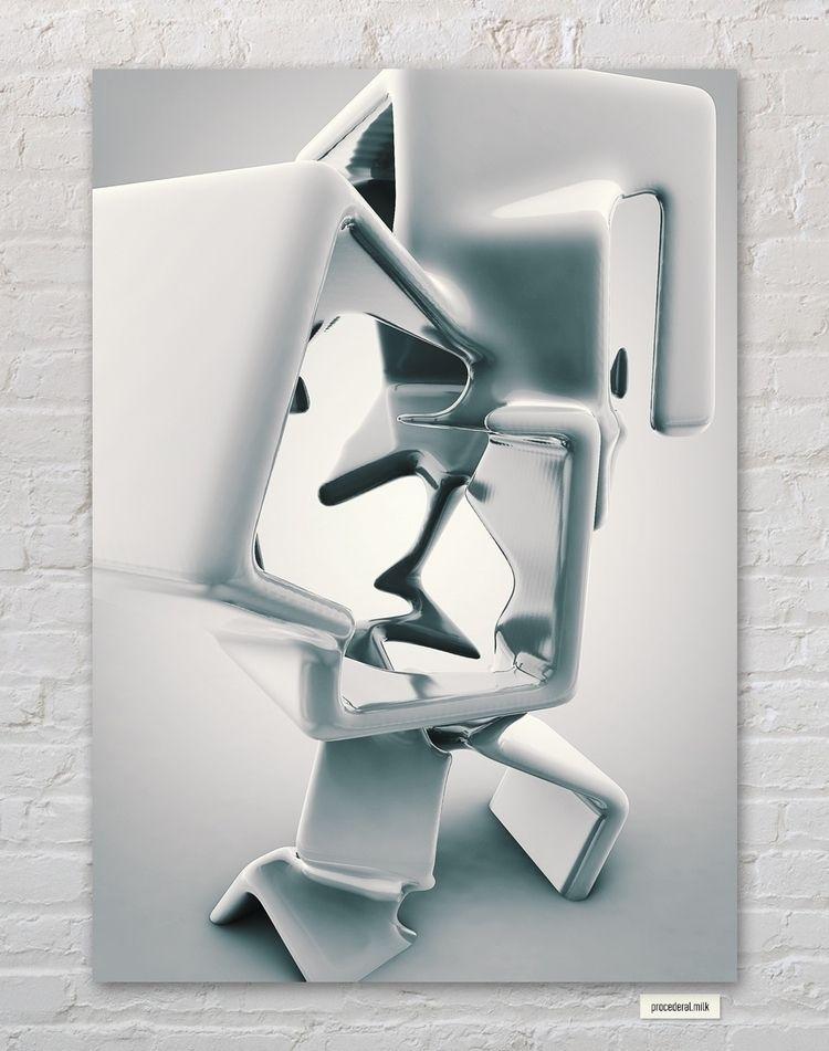 [procederal.milk - cinema4d, render - black_cubism | ello