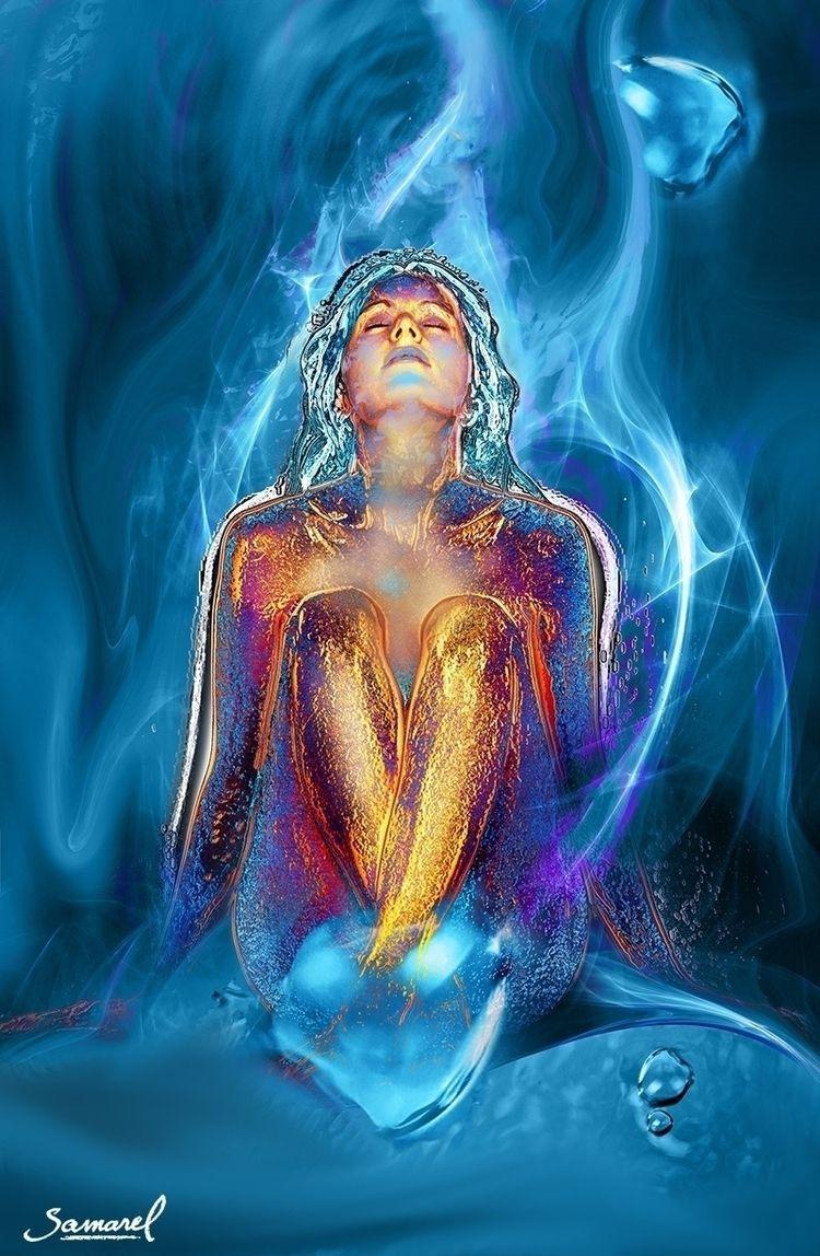 Blue Orgasm | Digital art artis - samarel | ello