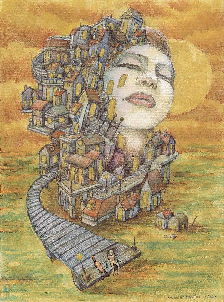 Passerelle - illustration, pont - daygor | ello