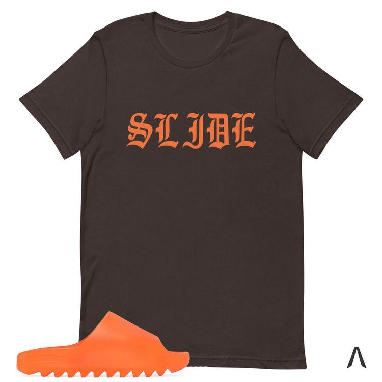 Brown Shirt Match Yeezy Slide E - kaatx   ello