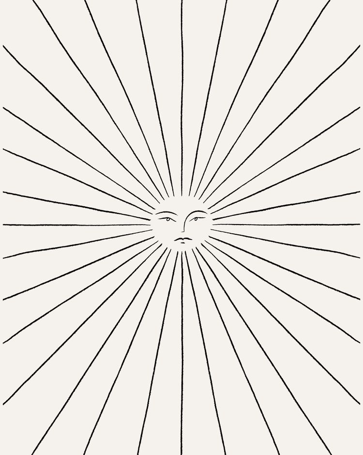 Sunbeam - minimal, illustration - kitagar | ello