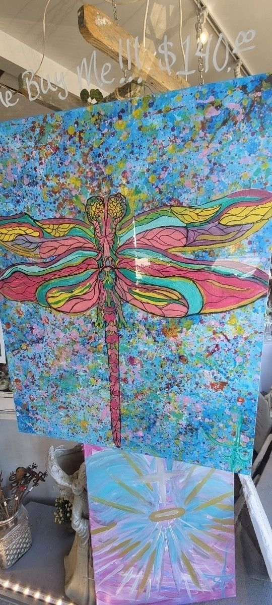 Title: Rainbow Dragonfly - voidedtophats   ello