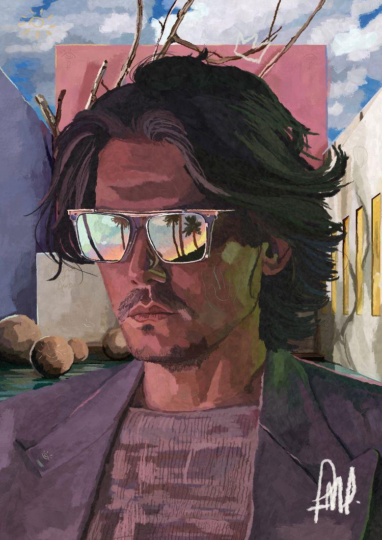 John Mayer - Digital Painting - henrique_friedrichs   ello