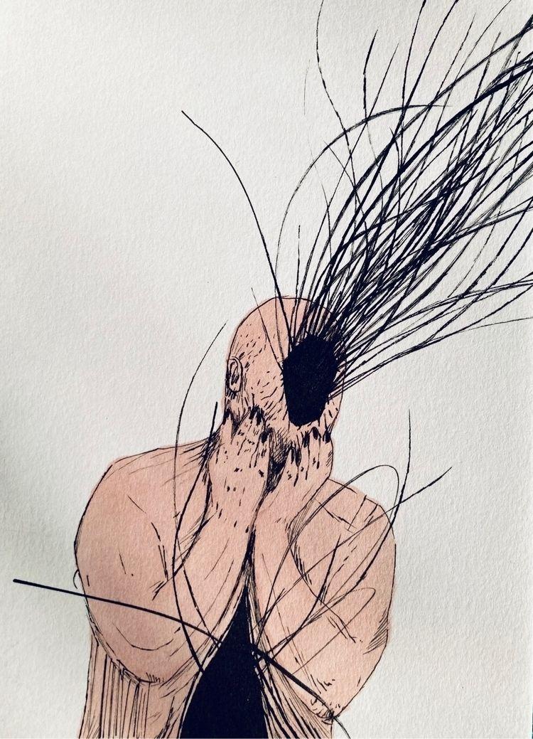 Figure double void. Ink paper,  - carpmatthew | ello