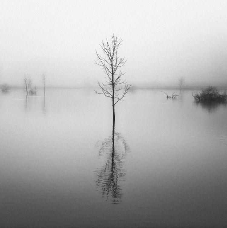 landscape, blackandwhite, lake - klaasphoto | ello