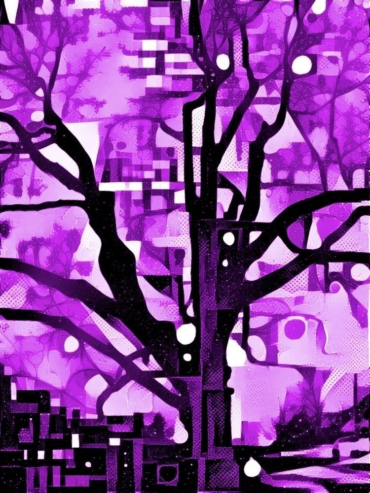 Purple tree - photography - kenlong | ello