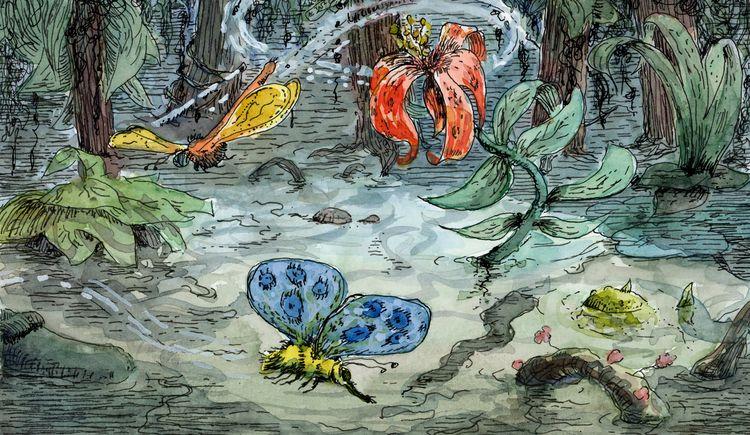 jungle - illustration, watercolour - waa   ello