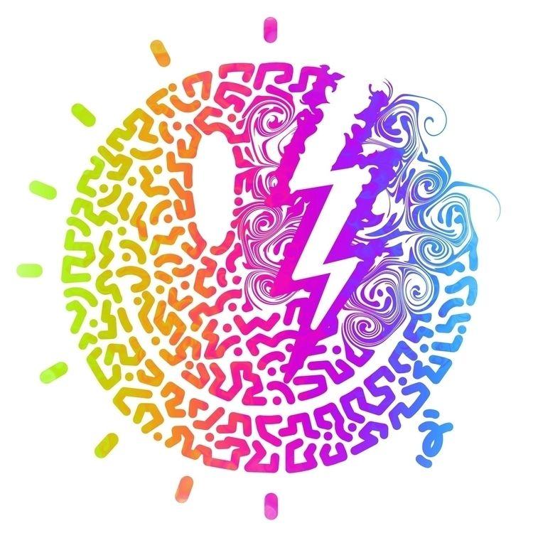 Psychedelic Acid Rock print var - furmie   ello