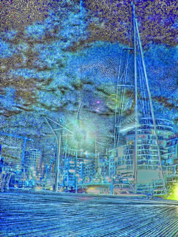Blue Footbridge - perfect day a - blueskipper | ello
