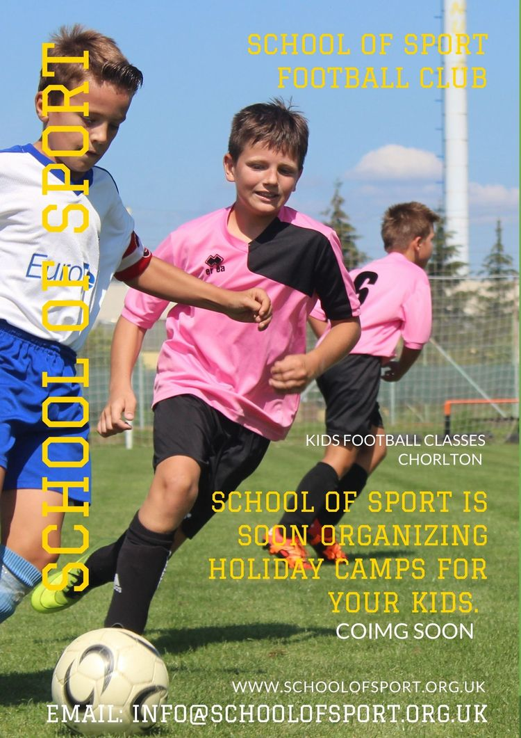 Kids football classes Chorlton  - schoolofsports   ello