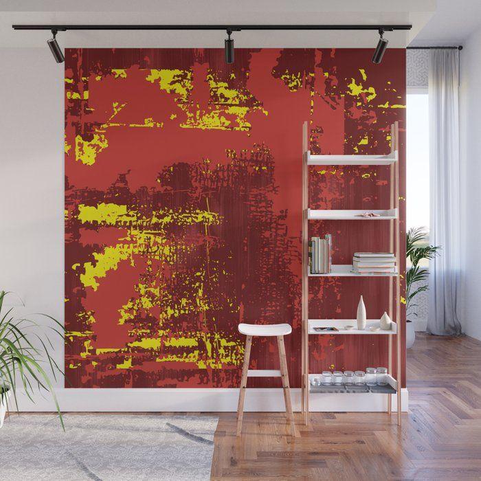 Grunge Paint Red Yellow Ruby Wa - art-heart-and-alternative-mood   ello