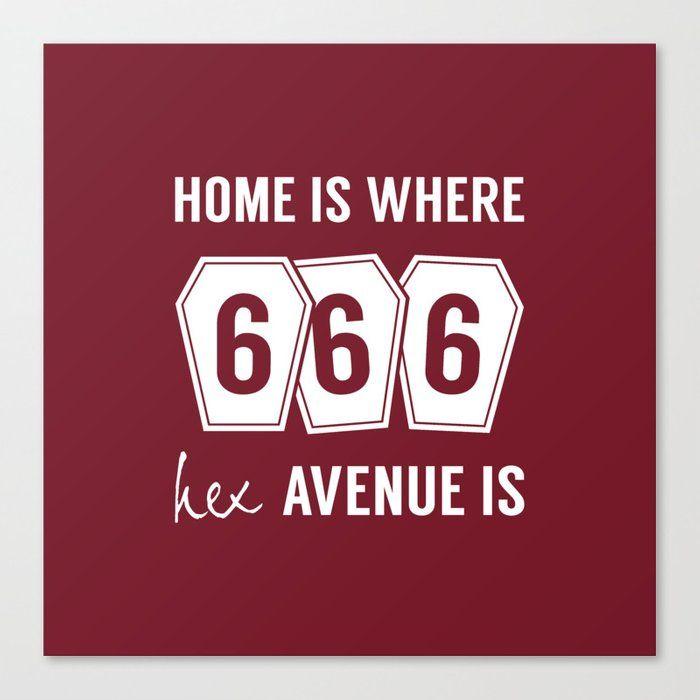 666 Hex Avenue Home Purple Canv - art-heart-and-alternative-mood   ello