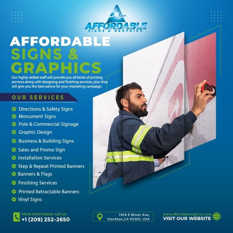 Custom Sign Printing advertisin - affordablesigns_stockton | ello