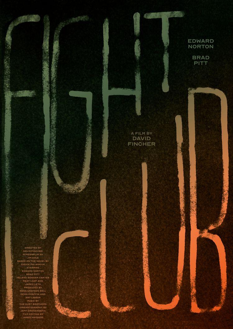 Film poster Fight Club (USA, 19 - mathieuvancamp | ello