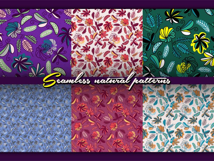 Seamless floral patterns. Inspi - yaninja   ello