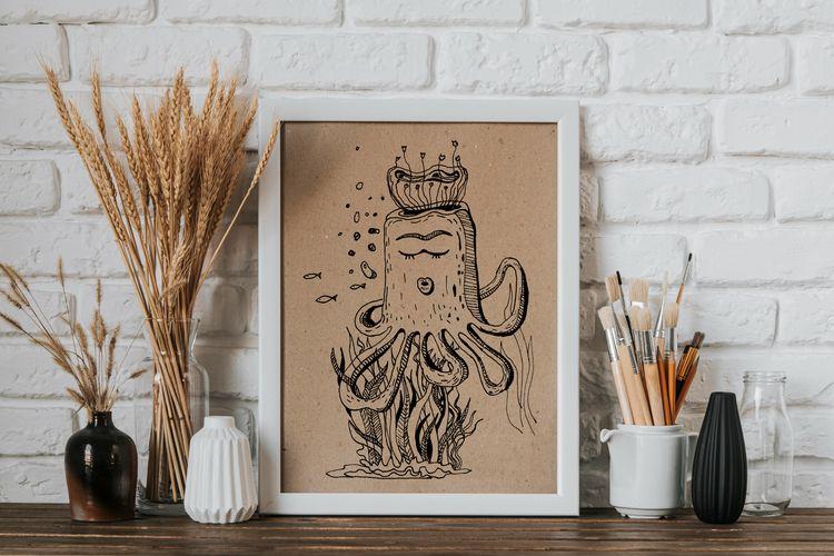Cute octopus sleep ocean questi - yaninja   ello