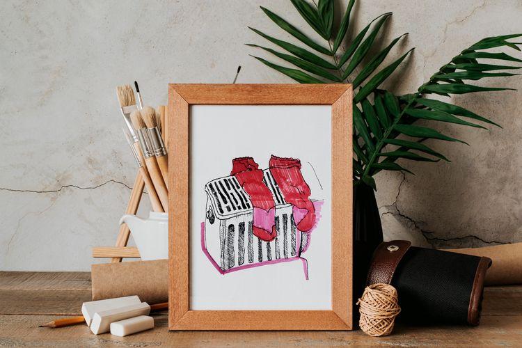 Hand drawn sketch red socks rad - yaninja   ello