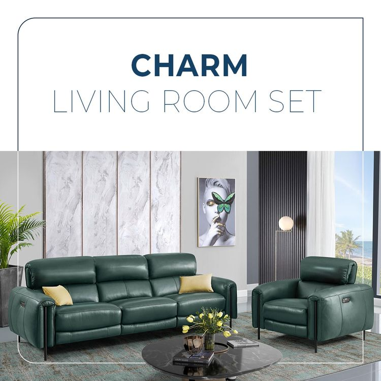 Charm Leather Living Room Sofa  - creativefurniturestore   ello