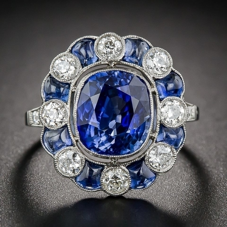 Ring Art Deco Gorgeous Sapphire and Diamond Ring.jpg