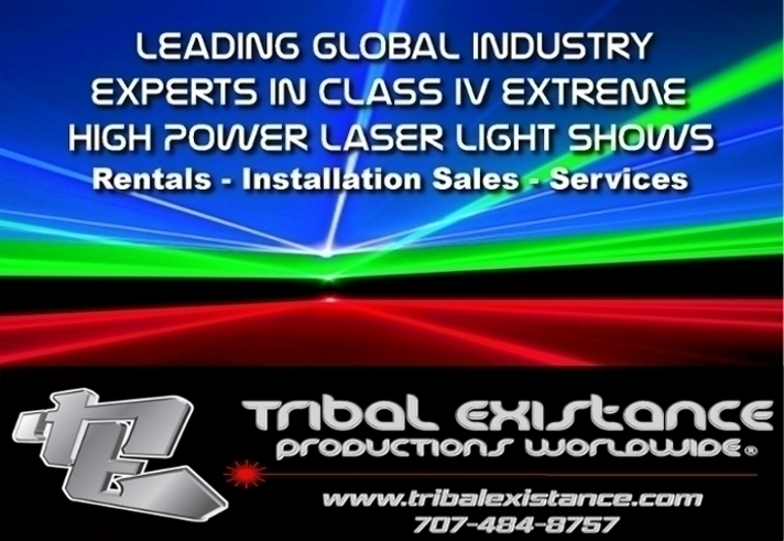High Power Laser Light Show Rental Laser Logo Graphic Display Services - Tribal Existance Productions Worldwide.jpg
