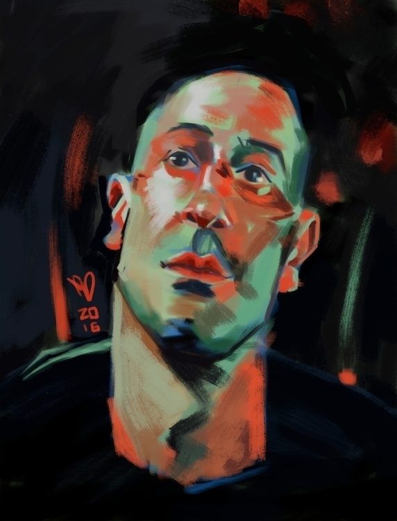 Jon Bernthal - speedpaint, digital - evandileo | ello