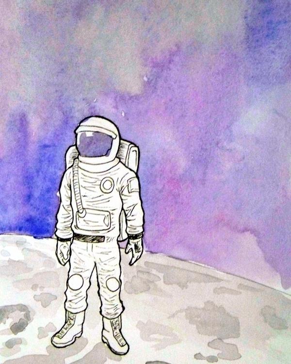 break dancing astronaut drawing - 600×750