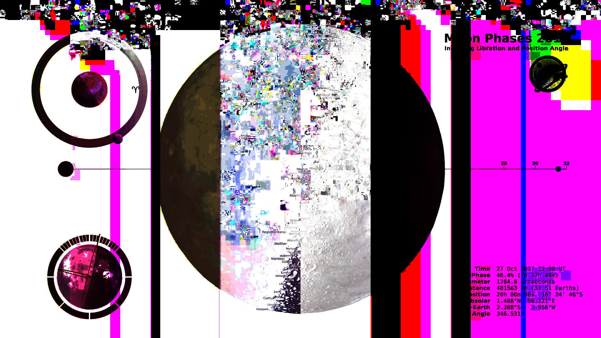 Moon phase - gif, glitch, elloglitchart - errore   ello