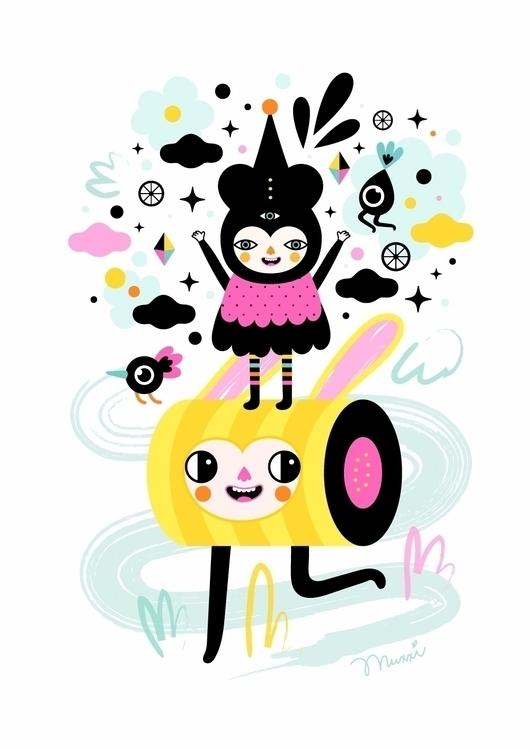 happy time! illustration charac - muxxi | ello