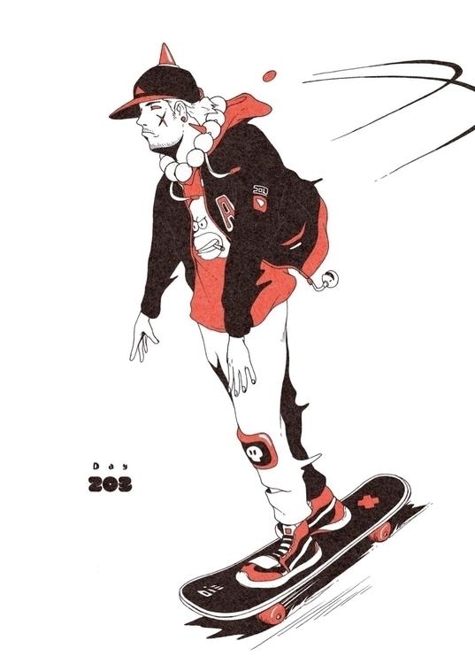 Day 203/365: Skate Die... illus - 1sles | ello