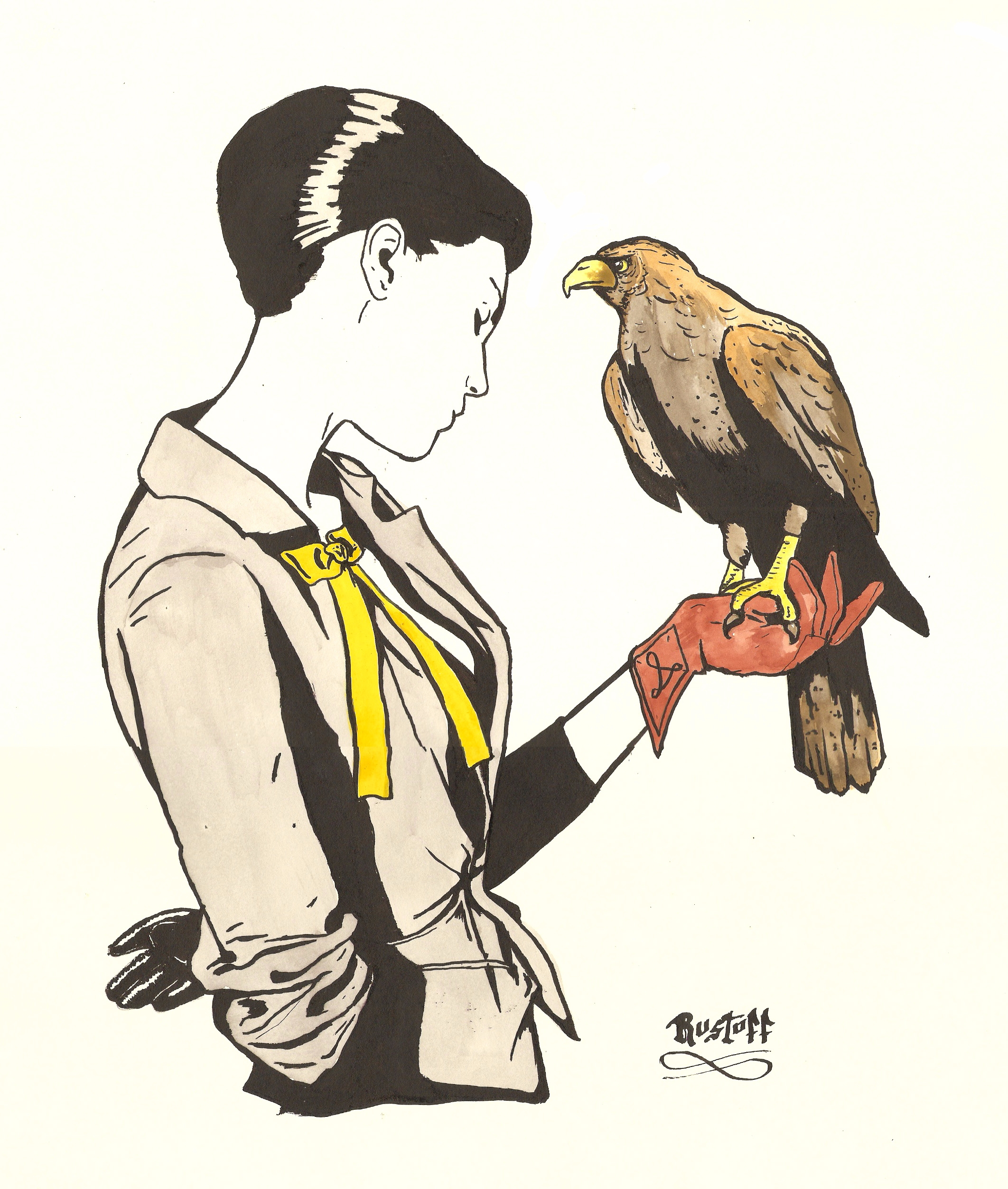 Falconry China Ink paper - diogorustoff | ello
