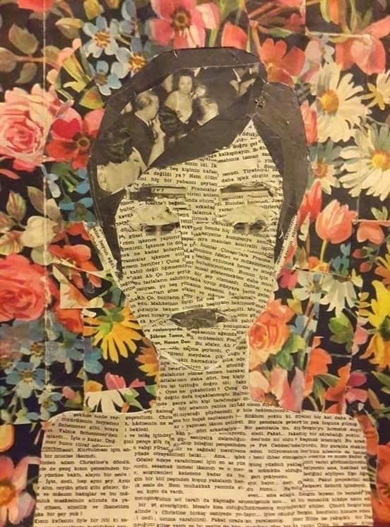 portrait. analog collage. elloa - esraesrakalk | ello