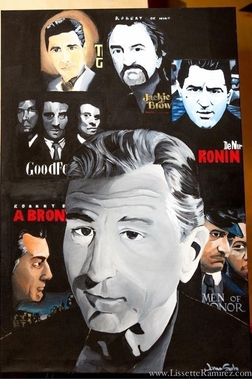Robert DeNiro. Acrylic canvas.  - jennsolo | ello