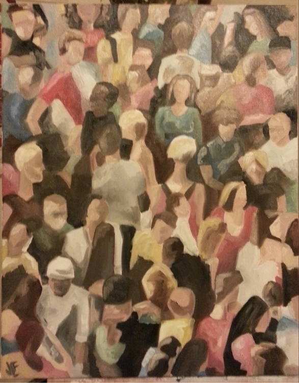 Acrylic canvas crowd people acr - jennsolo | ello
