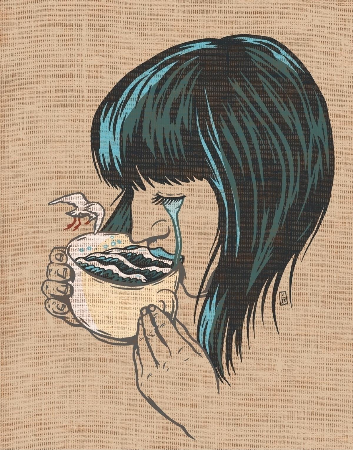 Her Tears Became The Sea illust - thomcat23 | ello