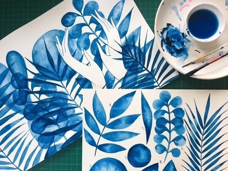 (Happy blue year) - remediosart | ello