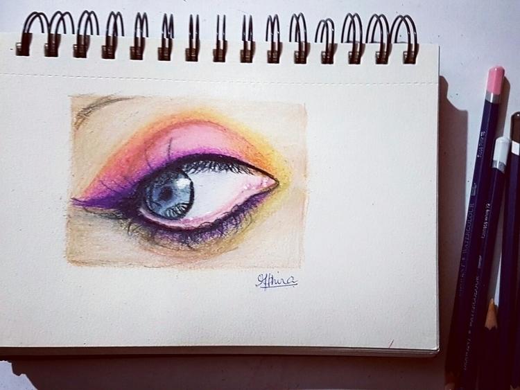 Drawing Eye eye colorpencil dra - athirasasthrasarman | ello