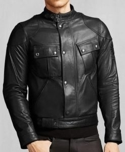 Front Buttoned Mens Biker Black - staphinejohnson | ello