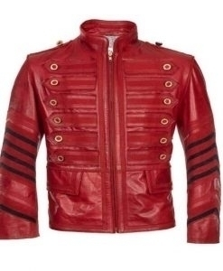 Mens Military Red Leather Jacke - staphinejohnson | ello
