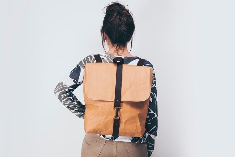 Waxed canvas bags. Kraft clutch - pipol-art | ello