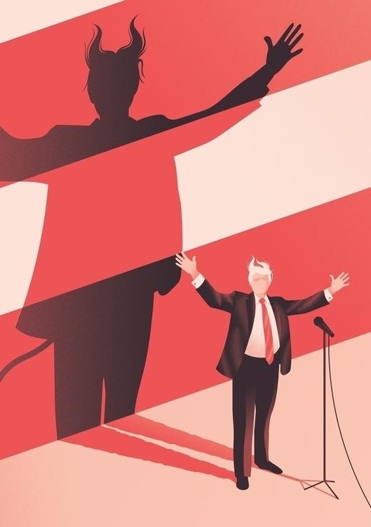 Little update Trump illustratio - jack_fff | ello