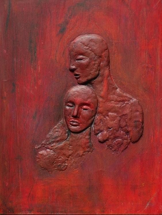 Relief 4 Acrylic Wood 20 cm 15  - loic-le-phoque-fringant | ello