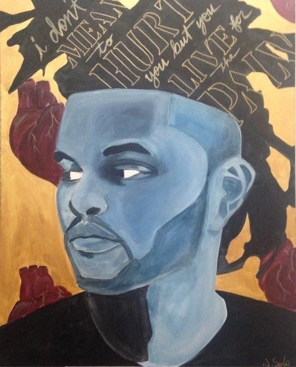 Weeknd. Acrylic canvas. acrylic - jennsolo | ello