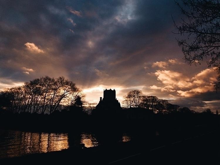 sunset sky golden clouds - justinwoehrle | ello