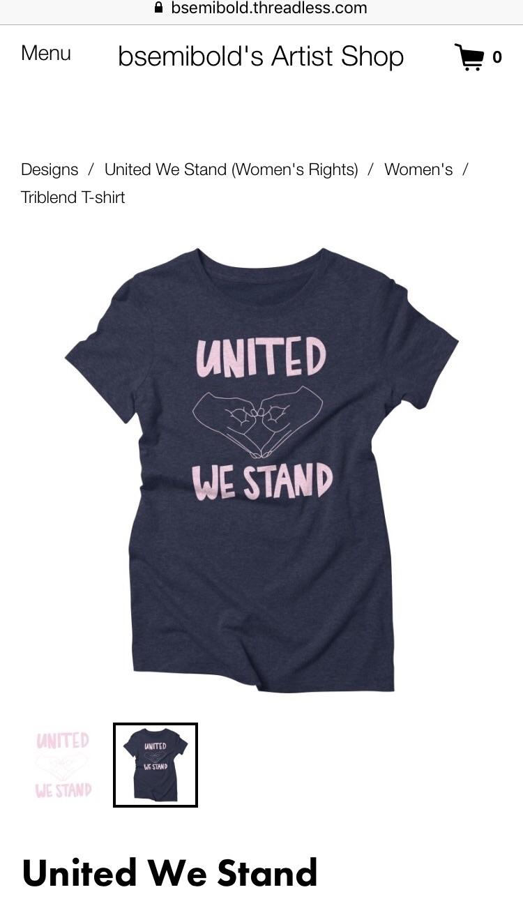 Unite love, resist love. womens - bsemibold | ello