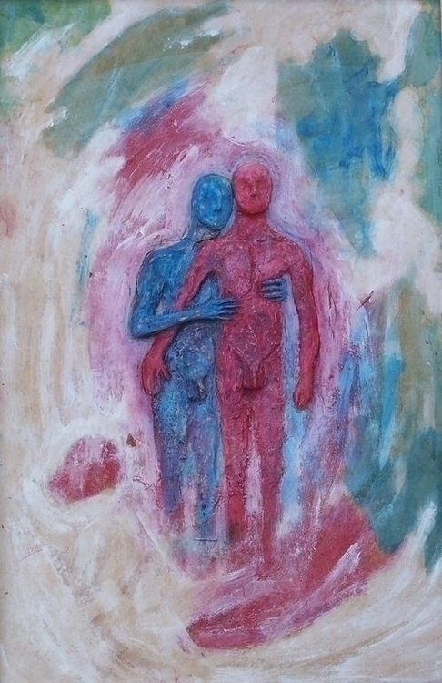 Relief 6 Acrylic Isorel 42 cm 2 - loic-le-phoque-fringant | ello